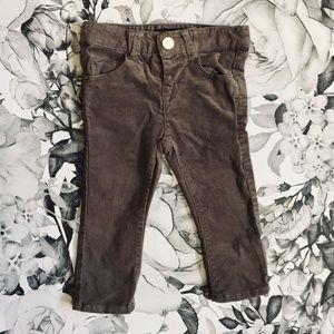 Zara Premium Collection Grey Corduroy Pants